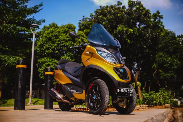 Foto: Lebih Dekat dengan Piaggio MP3 500 HPE, Skutik Canggih Beroda 3 (85191)