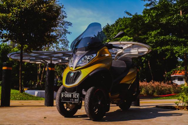 Foto: Lebih Dekat dengan Piaggio MP3 500 HPE, Skutik Canggih Beroda 3 (85192)