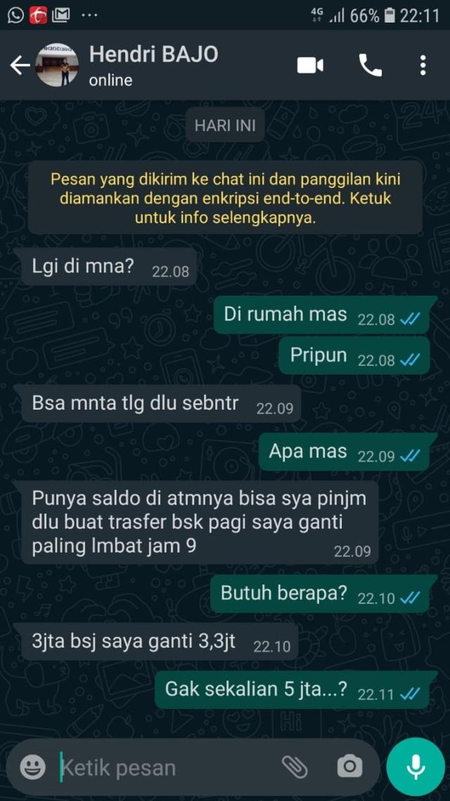 WhatsApp Humas Tim Bajo Dibajak, Minta Transferan Sejumlah Uang (55502)