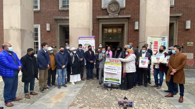 Shamsi Ali Pimpin Demo yang Dipicu Penyerangan Keluarga Muslim di New York (416071)
