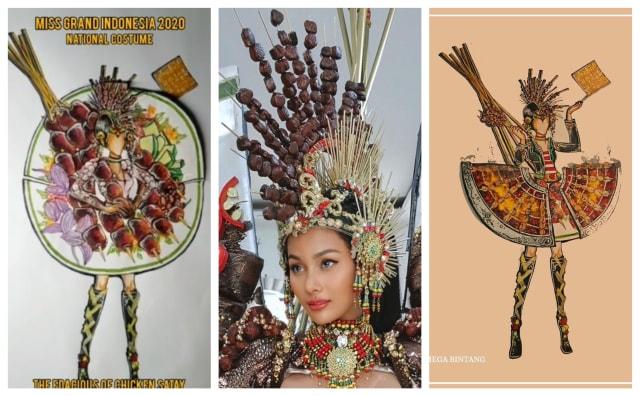 Unik, Ini Tampilan Kostum Sate Ayam Kharisma Aura di Miss Grand International (49675)