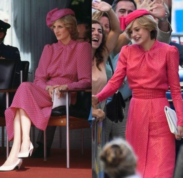 Mirip Banget! Ini 9 Gaya Emma Corrin Pakai Replika Baju Putri Diana di The Crown (14363)
