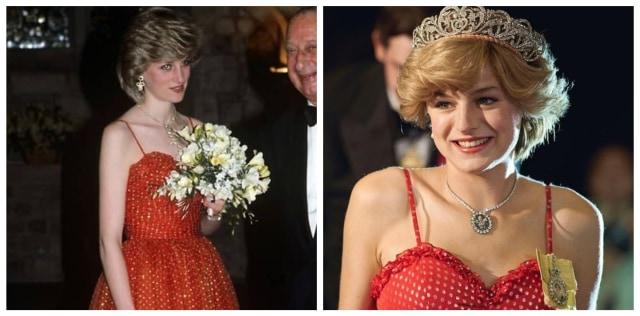 Mirip Banget! Ini 9 Gaya Emma Corrin Pakai Replika Baju Putri Diana di The Crown (14366)