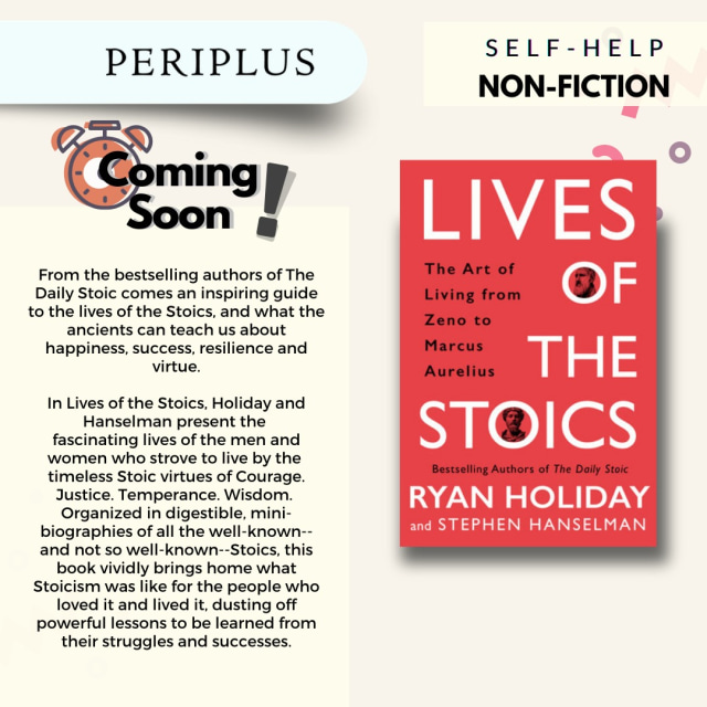 Rekomendasi Buku! Lives of the Stoics: The Art of Living from Zeno to Marcus (12043)