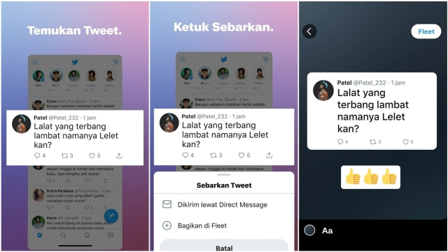 Cara Pakai Fitur Fleets Twitter yang Tiru Instagram Stories (46337)