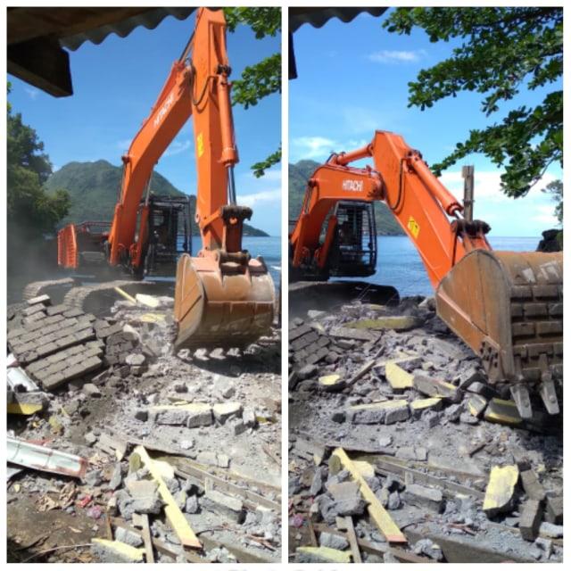 Baru Dibangun, Gedung Kantor Pelabuhan Hiri Dibongkar karena Memicu Protes (67393)