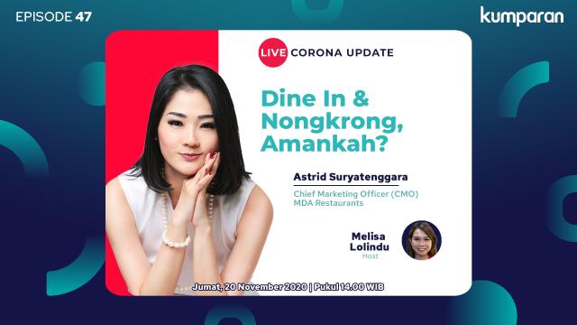 Live Corona Update: Dine In dan Nongkrong, Amankah? (133551)