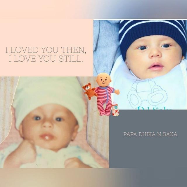 Andhika Pratama Bandingkan Fotonya saat Bayi dengan Baby Saka, Mirip Banget (121090)