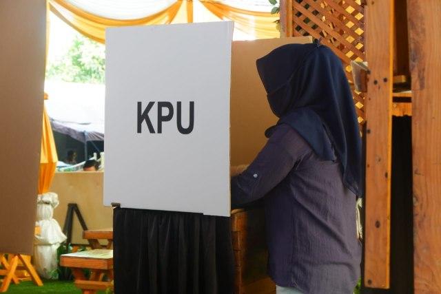 KPU Bandar Lampung Gelar Simulasi Pemungutan Suara Pilwalkot 2020 dengan Prokes  (101886)