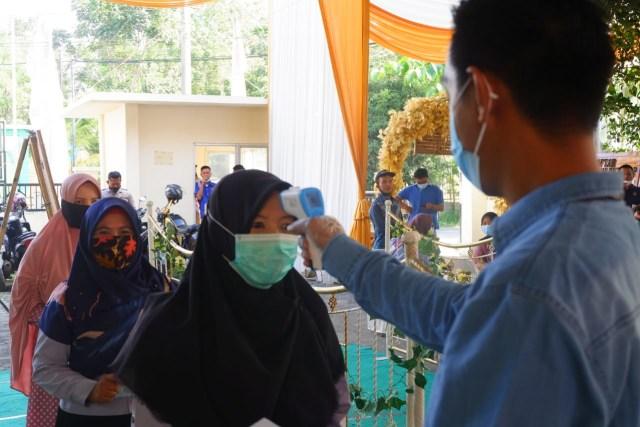 KPU Bandar Lampung Gelar Simulasi Pemungutan Suara Pilwalkot 2020 dengan Prokes  (101888)