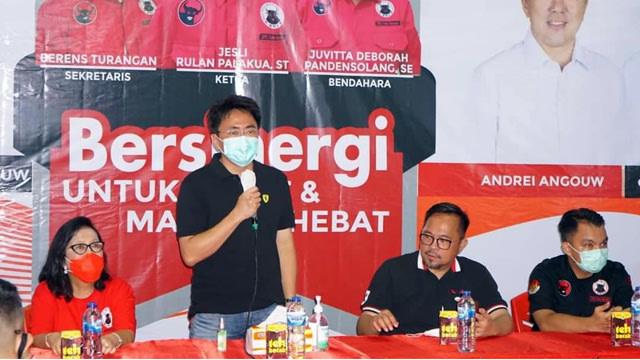Jadi Sasaran Kampanye Negatif, Andrei Angouw Minta Pendukung Tak Membalasnya  (412445)