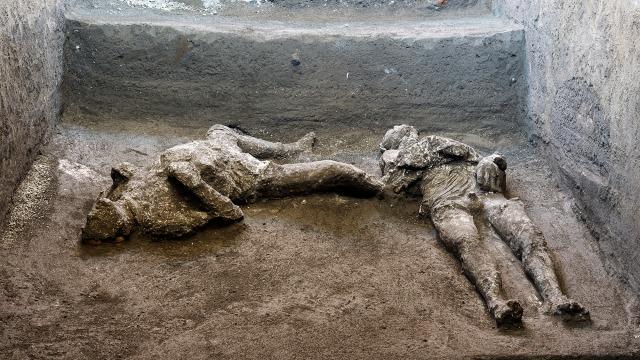 Foto: Sisa Mayat Letusan Gunung Vesuvius Ditemukan di Pompeii, Italia (401651)