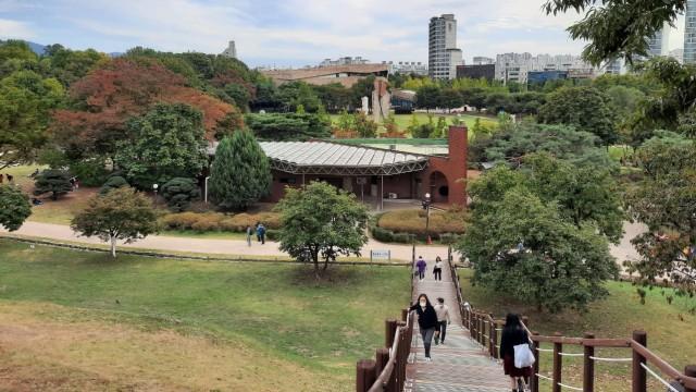 Foto: Pesona Ladang Bunga Olimpic Park, Populer di Korea Selatan (44396)