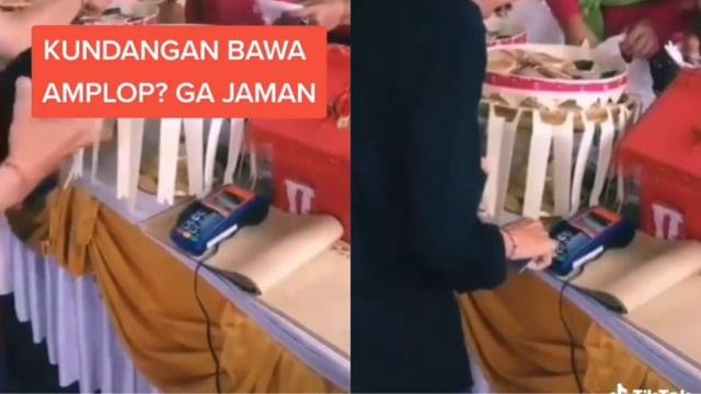 Viral Resepsi Pernikahan Pakai Mesin Debit untuk Terima Uang 'Amplop' dari Tamu  (254360)