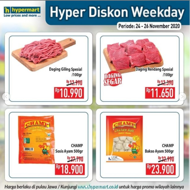 Catat Promo Hypermart Weekday Periode 24 26 November 2020 Yang Ramah Di Kantong Kumparan Com