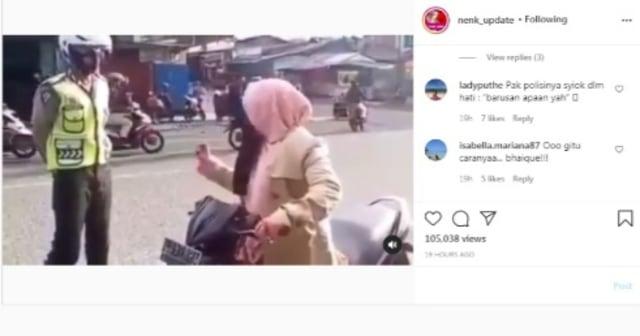 Viral Aksi Emak-emak Lolos dari Tilang Polisi usai Menyebut Kalimat Ini (83772)
