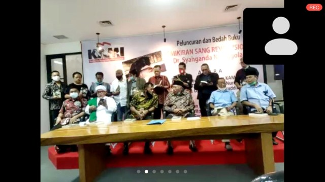 Habib Rizieq Muncul di Diskusi KAMI, Sapa Hangat Gatot dan Din Syamsuddin (63964)