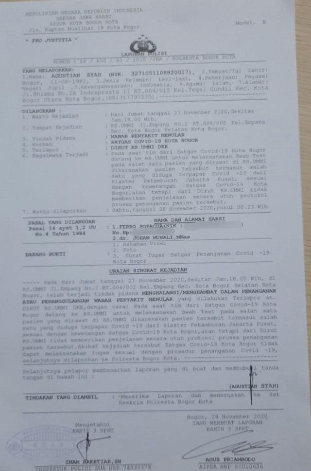 Satgas COVID Bogor Akan Beri Surat Peringatan ke RS Ummi, 2 Sanksi Menanti (223853)