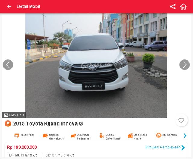 Berburu Toyota Innova Reborn Bekas, Mulai dari Rp 190 Jutaan (51313)