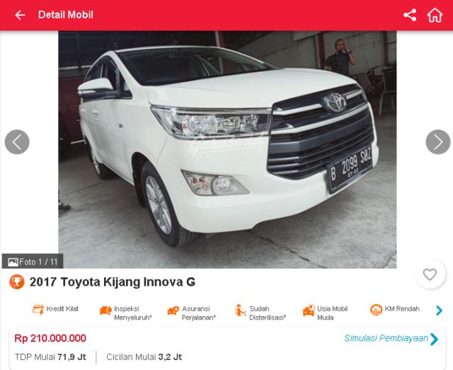 Berburu Toyota Innova Reborn Bekas, Mulai dari Rp 190 Jutaan (51315)