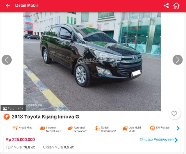 Berburu Toyota Innova Reborn Bekas, Mulai dari Rp 190 Jutaan (51316)