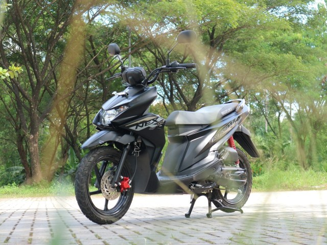 Modal Suzuki Nex Crossover Bersaing dengan Honda BeAT Street dan Yamaha X-Ride (8506)
