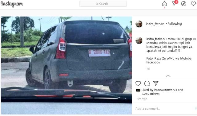Viral Foto Avanza Baru Tanpa Gardan Belakang, Ini Kata Toyota (76908)