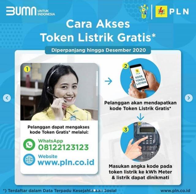 Cara Mendapatkan Token Listrik Gratis PLN via www.pln.co.id Bulan Desember 2020 (80621)