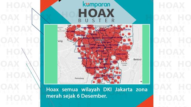 Hoaxbuster: Soal Semua Wilayah DKI Jakarta Zona Merah Corona (31156)