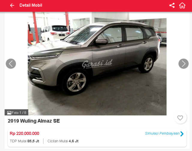 Wuling Almaz Bekas Harga Pasarannya Rp 200 Jutaan, Tertarik? (254209)