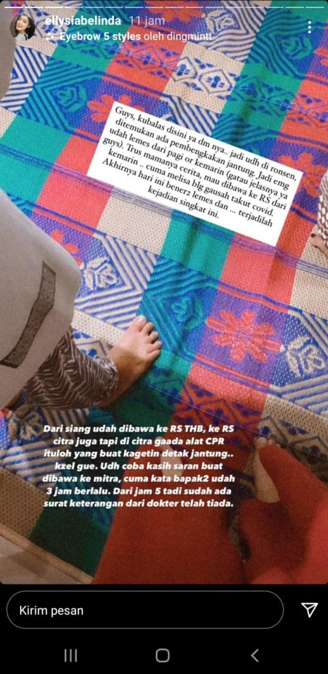 Sederet Fakta soal Meninggalnya Melisha Sidabutar (37862)