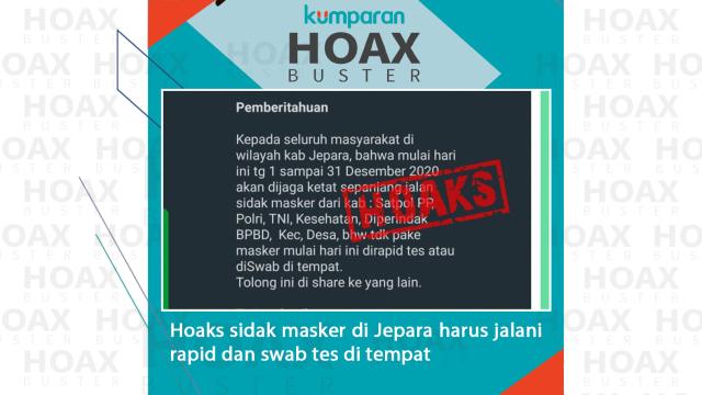 Hoaxbuster: Sidak Masker di Jepara Dikenakan Sanksi Swab di Tempat? (183616)