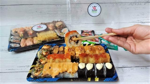 Sushimoo Sajikan Sushi Platter Halal Bercita Rasa Fusion ala Jepang-Indonesia (59031)