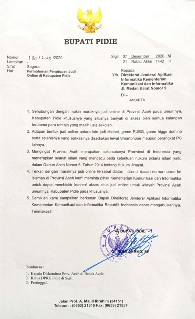 Bupati Pidie di Aceh Surati Kominfo Minta Blokir Gim PUBG-Judi Online (463188)