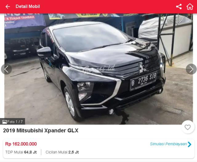 Harga Mitsubishi Xpander Bekas, Ada yang Rp 160 Jutaan (31657)