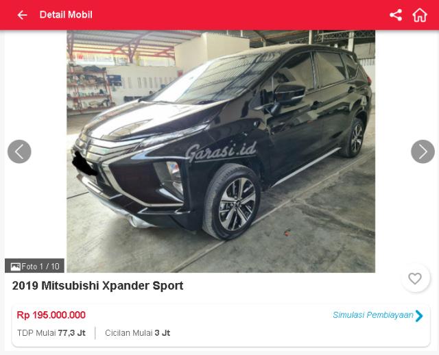 Harga Mitsubishi Xpander Bekas, Ada yang Rp 160 Jutaan (31659)