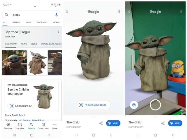 Cara Tampilkan Animasi Baby Yoda 3D, Karakter The Mandalorian di Google Search (137675)