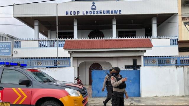 Jelang Natal, Polisi Tingkatkan Pengamanan Gereja di Aceh  (313214)