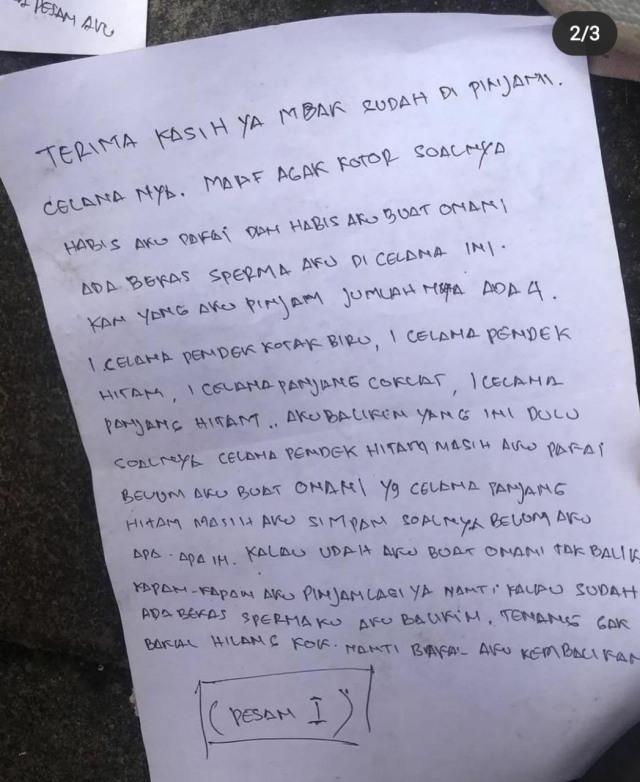 Pencuri Kembalikan Celana Dalam Curiannya dan Malah Kirim Surat Mesum ke Pemilik (98398)