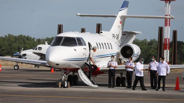 3 Menteri Jokowi dan Gubernur Jateng Tinjau Bandara Ngloram, Blora (140875)