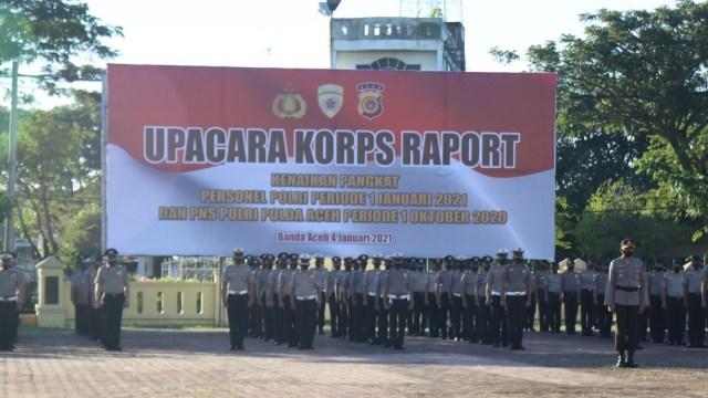 1.735 Polisi Aceh Naik Pangkat  (18993)