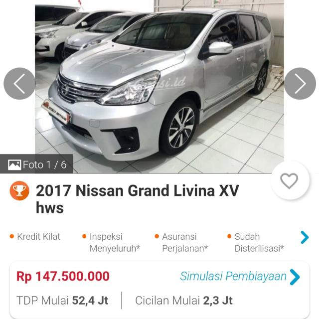 Menarik, Nissan Grand Livina Bekas Kini Harganya Mulai Rp 60 Jutaan (96194)