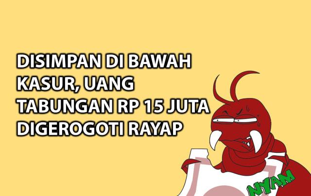 Disimpan di Bawah Kasur, Uang Tabungan Rp 15 Juta Digerogoti Rayap (249853)