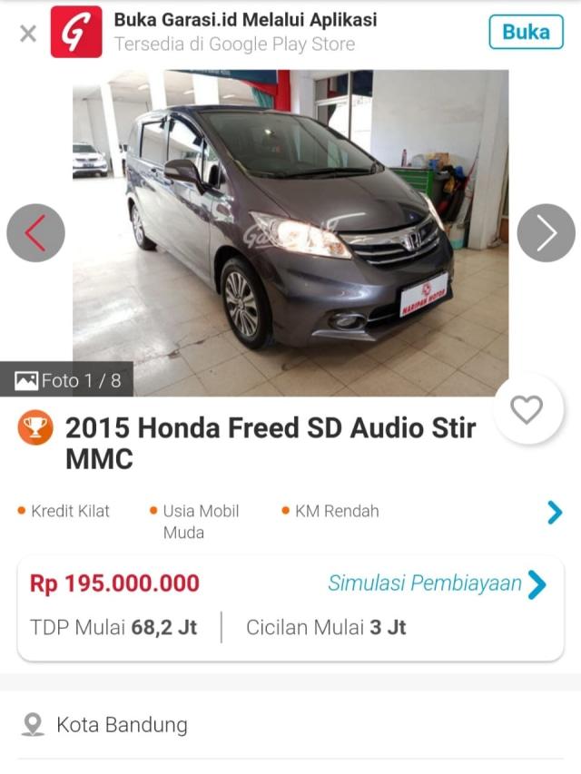Berburu Honda Freed Bekas, Harga Termurahnya Rp 100 Jutaan (109201)