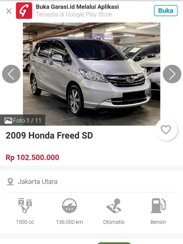 Berburu Honda Freed Bekas, Harga Termurahnya Rp 100 Jutaan (109200)