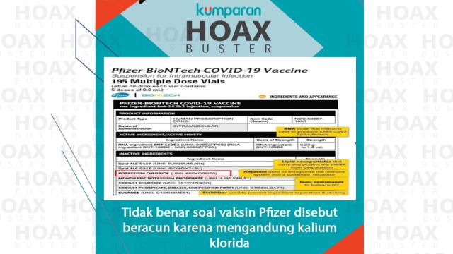 Hoaxbuster: Soal Vaksin Pfizer Disebut Beracun  (52748)