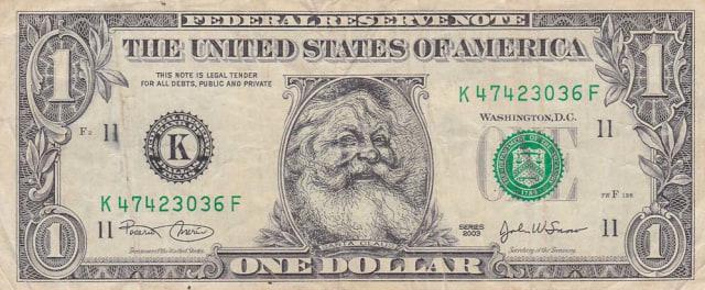 Bukan Uang Mainan, Dolar Bergambar Wajah Santa Klause Ini Legal di AS (276742)