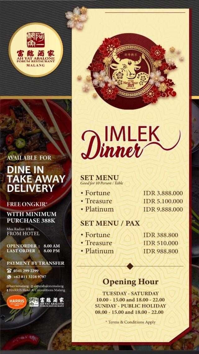 AH YAT Abalone Forum Restaurant Malang Sajikan Paket Imlek Dinner ke Rumah (14299)