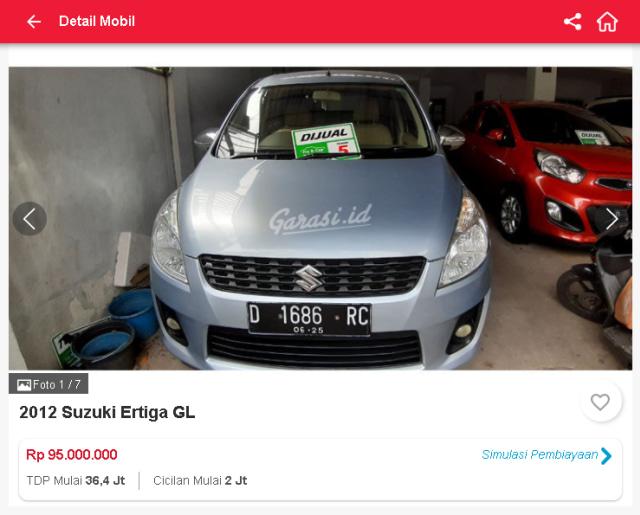 Berburu Suzuki Ertiga Bekas di Bawah Rp 100 Juta (30480)