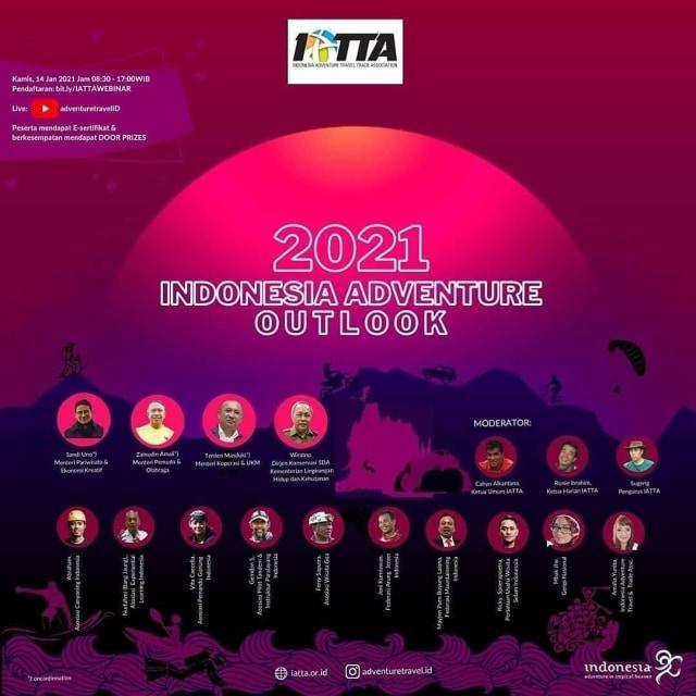 Bangkit Bersama Wisata Petualangan, IATTA Gelar Indonesia Adventure Outlook 2021 (7510)